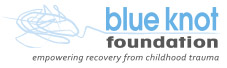 homepage Blue Knot Foundation, empowering recovery from childhood trauma - logo